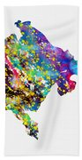 Map Of Montenegro-colorful Bath Towel