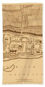 Map Of Montreal 1758 Bath Towel
