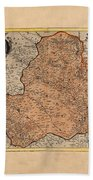 Map Of Rheims 1636 Bath Towel