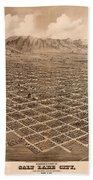 Map Of Salt Lake City 1875 Bath Towel