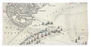 Map Of The Battle Of Copenhagen Bath Towel