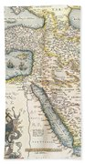 Map Of The Middle East From The Sixteenth Century Bath Towel