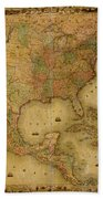 Map Of The United States 1849 Bath Towel