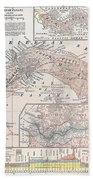 Map: Panama, 1907 Bath Towel