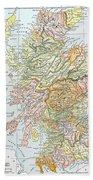 Map: Scotland Bath Towel