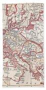 Map: Thirty Years War Bath Towel