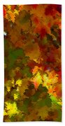 Maple Abstract Hand Towel