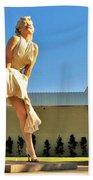 Marilyn In Palm Springs Bath Towel