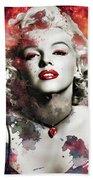 Marilyn Monroe   Colorful  Bath Towel