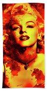 Marilyn Monroe   Golden  Bath Towel