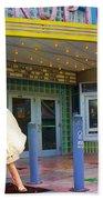 Marilyn Monroe In Front Of Tropic Theatre In Key West Bath Towel