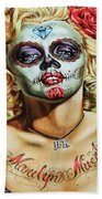 Marilyn Monroe Jfk Day Of The Dead  Bath Towel