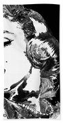 Marilyn Monroe Painting - Bombshell Black And White - By Sharon Cummings Bath Towel