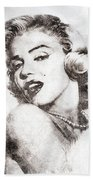 Marilyn Monroe Portrait 01 Bath Towel