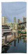 Marina At Granville Island In Vancouver Bc Bath Towel