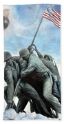 Marine Corps Art Academy Commemoration Oil Painting By Todd Krasovetz Hand Towel