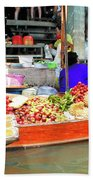 Market In Thailand Bath Towel
