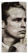 Marlon Brando, Vintage Actor Bath Towel