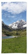 Maroon Bells Trail Panorama Bath Towel