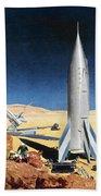 Mars Mission, 1950s Bath Towel
