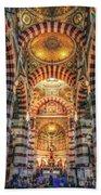 Marseille, France, Inside Of Notre-dame De La Garde Catholic Basilica Bath Towel