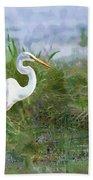 Marsh Egret Bath Towel