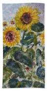 Martha's Sunflowers Bath Towel