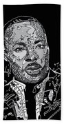 Martin Luther King  Bath Towel