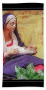 Mary And Jesus Bath Towel