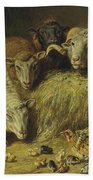 Maternal Solicitude By Arthur Fitzwilliam Tait Hand Towel