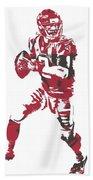 Matt Ryan Atlanta Falcons Pixel Art 5 Hand Towel