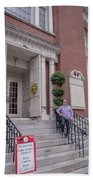 Matt V. Group At The Park Street Church In Boston, Massachusetts On August 26, 2016 Bath Towel