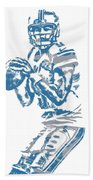 Matthew Stafford Detroit Lions Pixel Art 6 Bath Towel