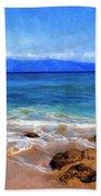 Maui Beach And View Of Lanai Bath Towel
