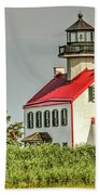 Maurice River, New Jersey, East Pointe  Lighthouse Bath Towel