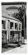Max's Diner New Jersey Black And White Bath Towel