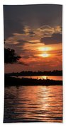 May Sunset At Detroit Point Bath Towel