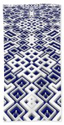 Maze Pattern Bath Towel