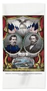Mcclellan And Pendleton Campaign Poster Bath Towel