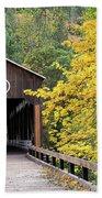 Mckee Bridge In Fall Bath Towel