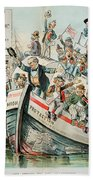 Mckinley Cartoon, 1896 Bath Towel