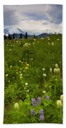Meadow Beneath The Storm Bath Towel