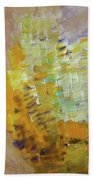 Meadow Flowers Abstract Bath Towel