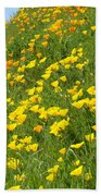 Meadow Hillside Poppy Flowers 8 Poppies Artwork Gifts Bath Towel