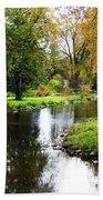 Meandering Creek In Autumn Bath Towel