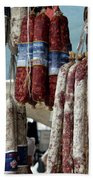Meats And Sausages  Bath Towel