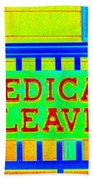 Medical Leave Art Bath Towel