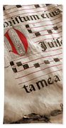 Medieval Choir Book Hand Towel