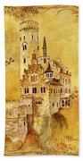 Medieval Golden Castle Bath Towel