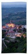 Medieval Hilltop Village Of Smartno Brda Slovenia At Dawn In The Bath Towel